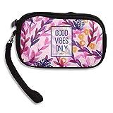 HACVREQ Unisex Personalized Wallet,Good-Vibes-Only Purse Bag Woman Ladies Men Gentlemen