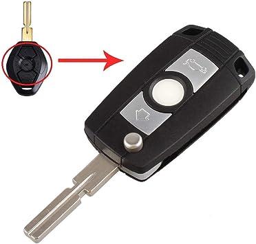 Umbau Umbaukit Schlüsselgehäuse Mit 3 Tasten Autoschlüssel Klappschlüssel Schlüssel Mit Rohling Hu58 Fernbedienung Funkschlüssel Gehäuse Ohne Elektronik Inion Für Bmw Ms03a Auto