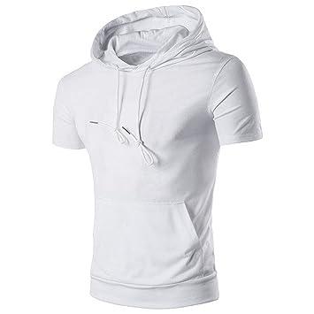 2c32d36a87ca Herren T-Shirt Hoodie, Sunday Männlich Kapuze Kurze Ärmel Summer Casual  Hedging Tops Herren