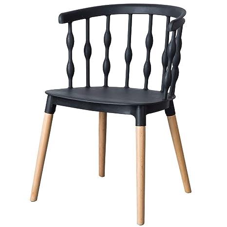 Amazon.com: RXBFD Silla de comedor simple, silla de café ...