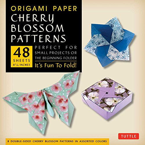 Origami Paper- Cherry Blossom Prints Large- 8 1/4