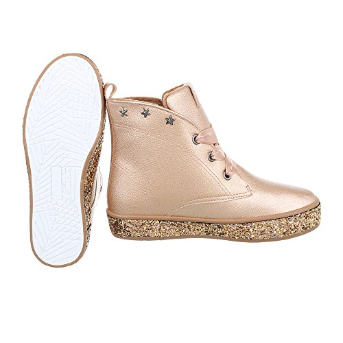 Design Ital Boots Boots Heel Ankle Champagne Wedge at Women's Up Lace xWUqwRRz8H
