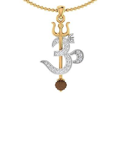 Amazon voylla trishul with om designer rudraksha studded pendant voylla trishul with om designer rudraksha studded pendant with chain for men mozeypictures Image collections