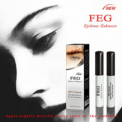 BEST Eyebrow Growth Product Most Effective Growth Serum with Conditioner used to LENGTHEN & THICKEN Eyebrows; FEG is a Powerful Stimulator Treatment that Prevents Thinning & Breakage; Helps Promote Vitality & Strength. 100% Original with Anti-F