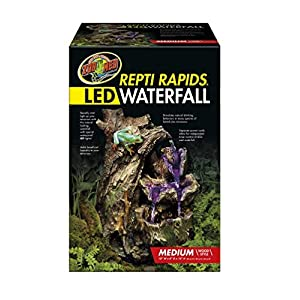 Zoo Med 26375 Repti Rapids LED Waterfall Wood Style, Medium 29