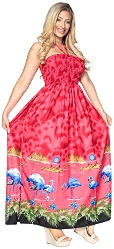 Maxi de LEELA del de Cubre g107 de baño Ropa Tubo sin para Camiseta Noche Falda Playa la Rojo Las de Traje Largo el Mujeres Arriba Vestido de Mangas LA HgRqwR