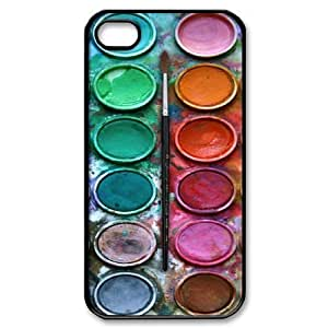Custom Your Own Personalised Colorful Watercolor Set Iphone 4/4S Best Durable Hard Cover Case by runtopwell