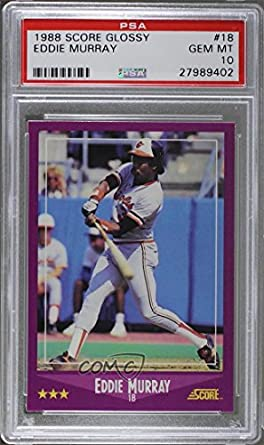 Amazoncom Eddie Murray Psa Graded 10 Baseball Card 1988