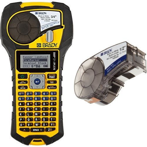Brady BMP21-PLUS Handheld Label Printer with Rubber Bumpers, Multi-Line Print, 6 to 40 Poi ()