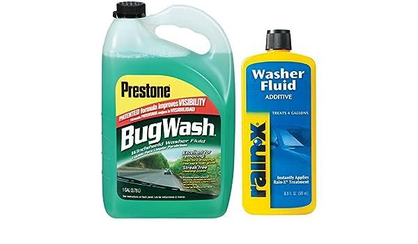 prestone Bug Remover Windshield Washer Fluid con arandela RAIN-X ...