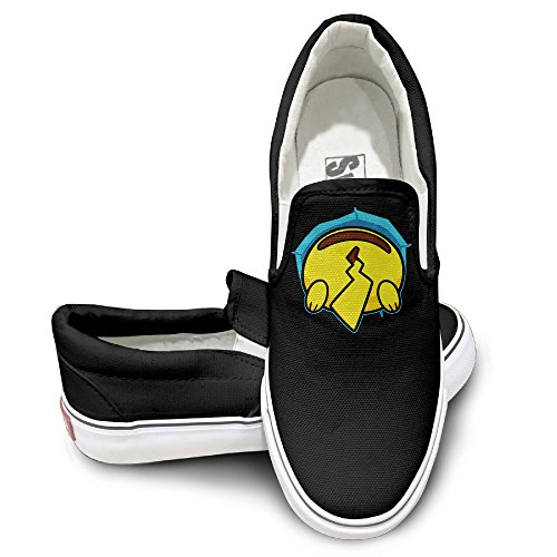 [EWIED Unisex Classic Cute Pika Ass Slip-On Shoes Black Size36] (Crosby Halloween Costume)