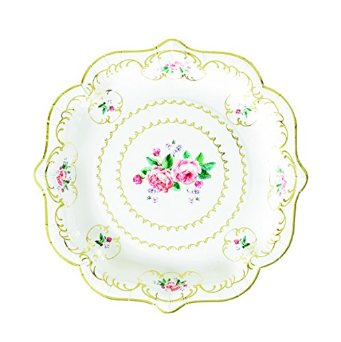 Talking Tables Truly Chintz, Paper Plates, 22cm (8 pack in 1 design) (Table Plate)