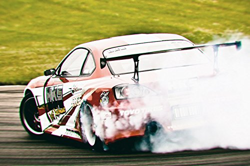 Nissan Silvia Back Drift Car Poster 24x36 ()