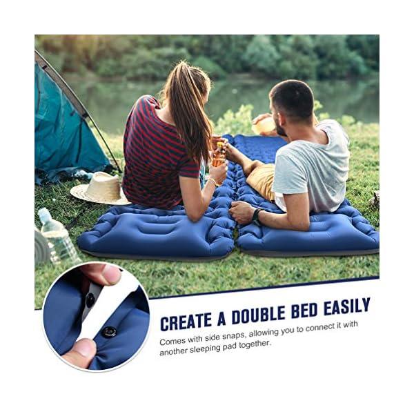 51mGkri7soL OCOOKO Isomatte Camping schlafmatte mit Fußpresse Pumpe - luftmatratze Camping isomatte aufblasbar selbstaufblasbare…