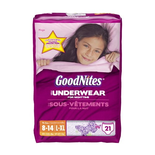 GoodNites Underwear, Girls, Large/Extra-Large, 21 Count