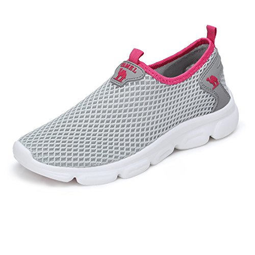 Camel Women's Fashion Design Ultra Lightweight Breathable Mesh Athleisure Slip On Walking Shoes by Camel