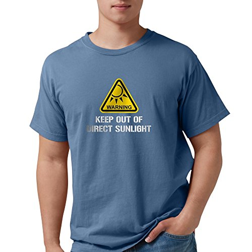 CafePress WARNING - Keep Out Of Direct Sunlight T-Shirt Mens Comfort Colors Shirt