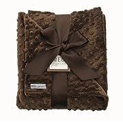 MEG Original Chocolate Brown Minky Dot Baby Blanket