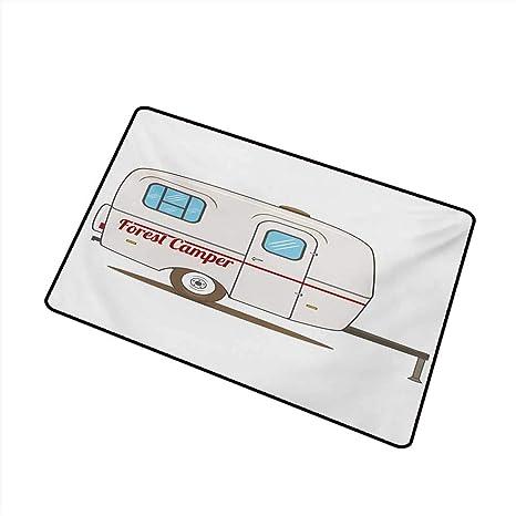 Amazon com : Modern Door mat Camper Cute Vintage Van