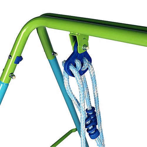 HLC-Folding-Toddler-Blue-Secure-Swing-with-safety-seat-for-babychirldrens-Gift