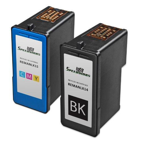 Speedy Inks - Remanufactured Lexmark #14 18C2090 Black & #15 18C2110 Color Ink Cartridges: 1 Black 1 Color