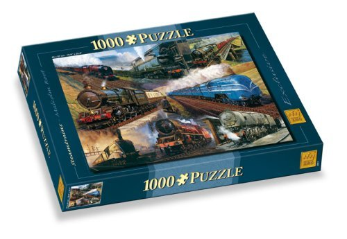 King Steam Trains Classic Collections Jigsaw Puzzle, 1000 pieces by King (Classic Steam Train Collection)