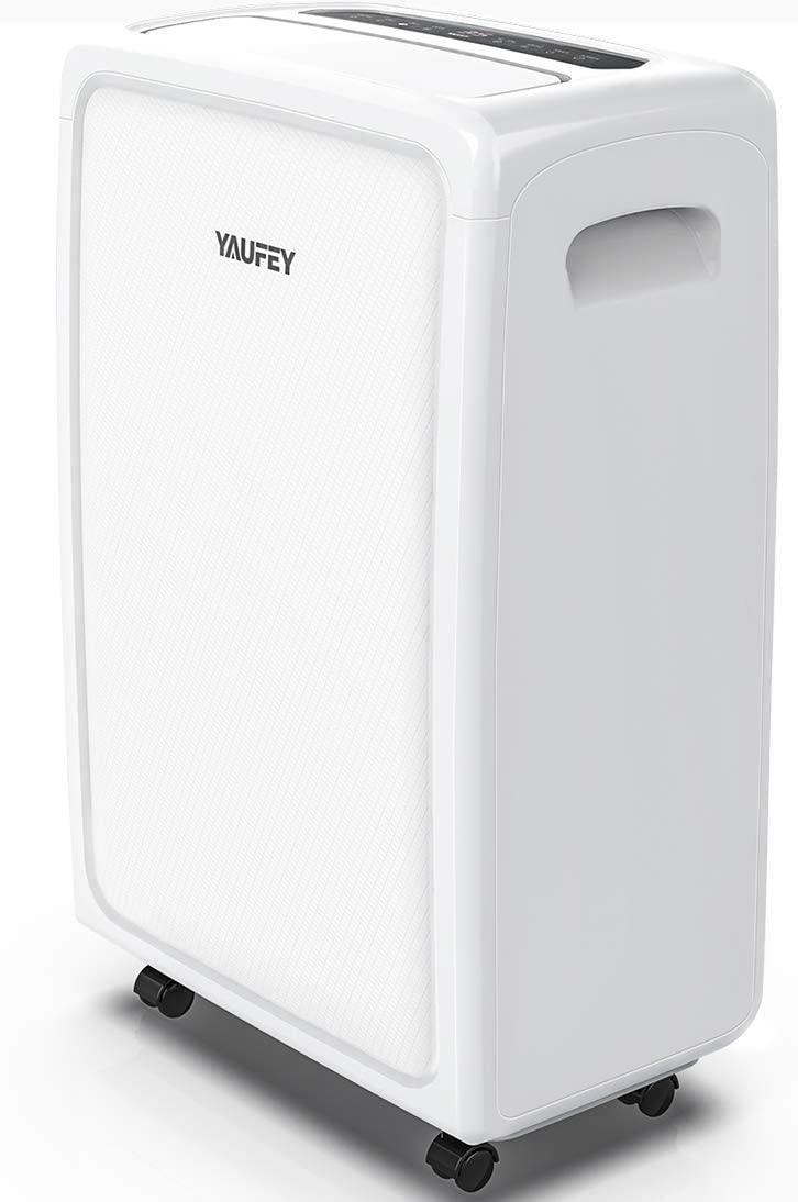 yaufey 4500 Sq. Ft Home Dehumidifier 70 Pint for Basements and Extra Large Rooms with Drain Hose Outlet and Two Continuous Drainage Modes Efficiently Removes Moisture