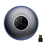 Bluetooth Speakerphone - eMeet M2 Gray Conference Speakerphone for 5-8 People Business Conference...