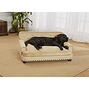 Enchanted Home Pet Caramel Ultra Plush Library Pet Sofa 4