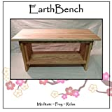 Meditation Bench ~ 14'' tall Personal Altar Table by EarthBench: RED OAK (28'' by 11'' by 14'' tall)