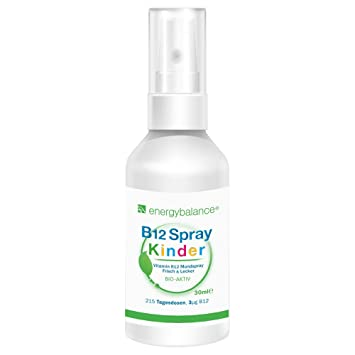 EnergyBalance Vitamin B12 Children Spray | Vegan Mouth Spray | Alta dosis y sin azúcar |