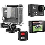 GoldFish H2R 4K Sport Action Video Camera 2.0inch 12MP Waterproof WiFi 2.4G Wrist Remote Black