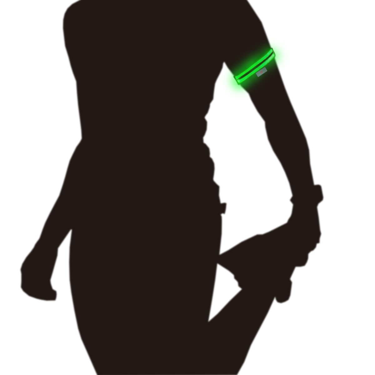 Glowseen Arm Band LED Lamp Dual Light Fiber Light up Glow Bright Sport Fitness Workout Gymnastic Exercise Bodybuilding…