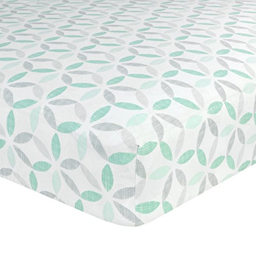 Just Born Cotton Fitted Crib Sheet, Tribeca ()