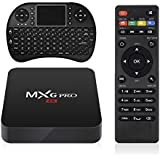 MXG PRO Android TV BOX + Wireless Keyboard, 2GB/16GB 4K Improved Version Android 6.0 S905X Quad Core