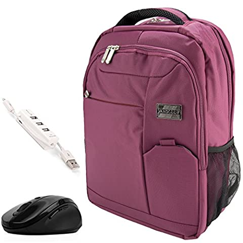 VanGoddy Orchid Purple Executive Anti-Theft Laptop Backpack w/ Wireless Mouse and USB HUB for MacBook / MacBook Air / MacBook Pro / 11
