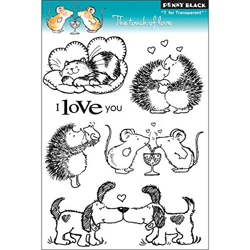 Love Mounted Rubber Stamp - Penny Black 30-089 The Touch of Love Clear Stamp