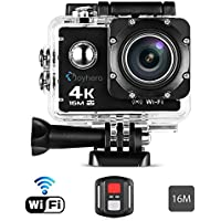 Action Camera,4K WIFI Sports Action Camera 30M Waterproof Case 1050mAh rechargeable battery Ultra HD Waterproof DV Camcorder 16MP 170 Degree Wide Angle