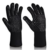 MAYFERTE BBQ Cooking Glove 932°F Extreme Heat Resistant Oven Gloves for Cooking, Grilling, Baking