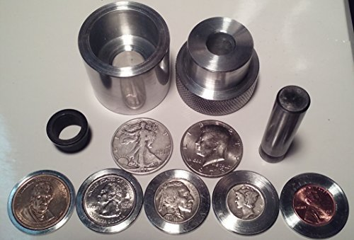 Coin Ring Center Punch for 50 Cent Piece. Comes with 1/2'' Punch and Die and 6 Spacers!!!