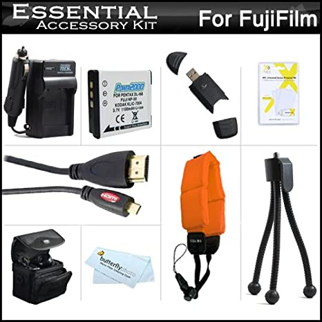 f50b82f3 Must Have Accessory Kit for Fuji Fujifilm FinePix XP200 XP170 XP150, XP100  Waterproof Digital Camera Includes Replacement NP-50 Battery + Charger +  Micro ...