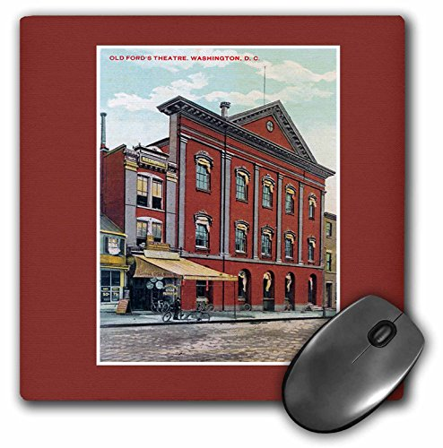 3dRose LLC 8 x 8 x 0.25 Inches Mouse Pad, Old Fords Theatre, Washington Dc Postcard Reproduction (mp_170938_1)