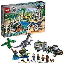 LEGO Jurassic World - Encuentro con el Baryonyx: La Caza del Tesoro Juego de Construcción con Dinosaurio de Juguete y Vehículo Todoterreno con Caravana, Novedad 2019 (75935) , color/modelo surtido