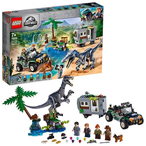 레고 (LEGO) 쥬라기 월드 바리 오닉스의 대결 보물 찾기 75935 블록 장난감 공룡 소년