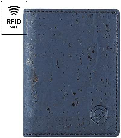Cork Wallet RFID Slim Minimalist Front Pocket Men Women Vegan Non Leather