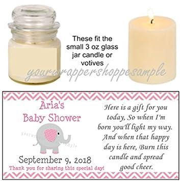 Amazon.com: 56 personalizado rosa y gris elefante Baby ...