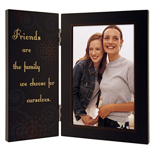 Malden International Designs Friends are the Family We Choose for Ourselves Hinged Picture Frame, 4x6, Brown (Friends Photo Best Frame)