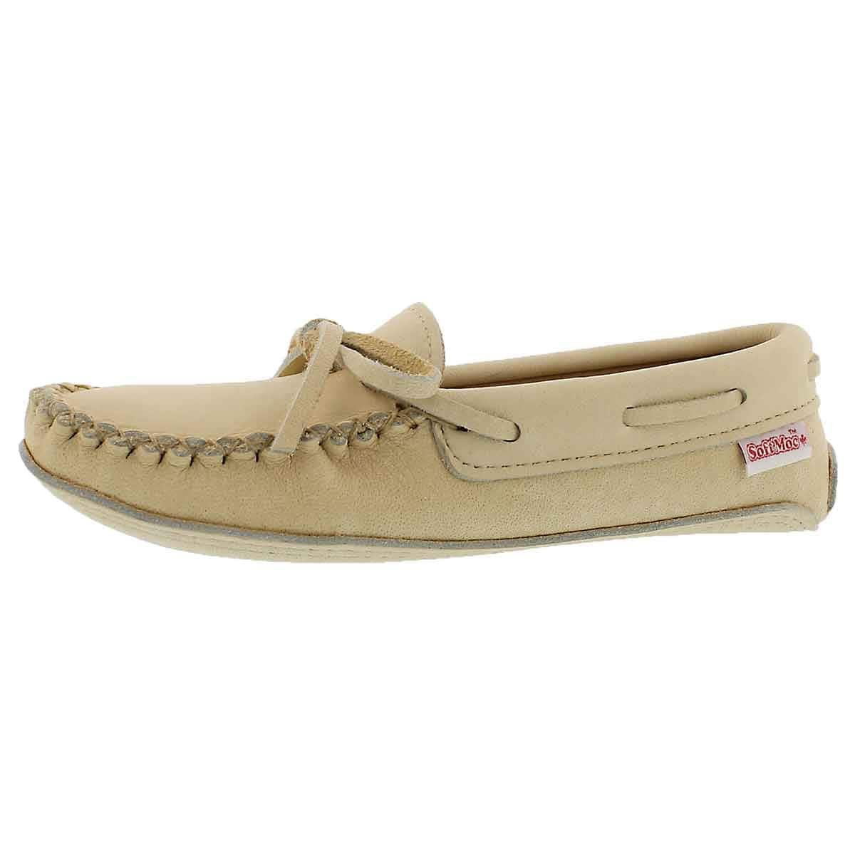 SoftMoc Women's Double Sole Caribou Moccasin Natural 6 M US