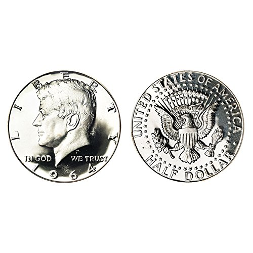 1964 JFK Kennedy Half Dollar Brilliant Uncirculated BU $1 Face - Two Coins (The Dollar Coin)