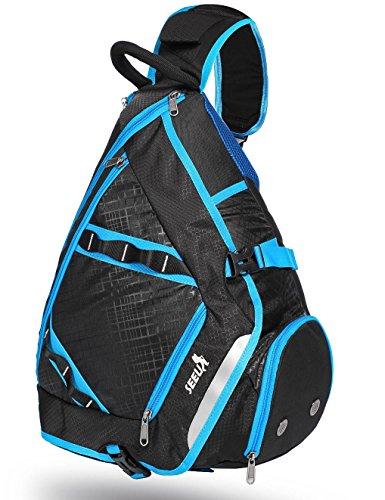 SEEU 32L Oversized Sling Bag Backpack with Shoe Pocket, Lightweight Shoulder Crossbody Backpack Chest Bag Gym Backpack for Men Women